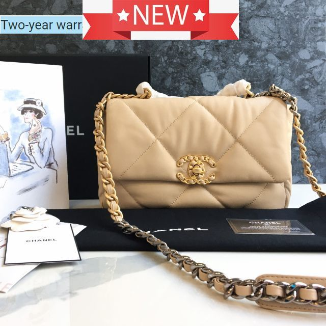 New!! Chanel 19 Flap Bag 26 cm. Goat Skin