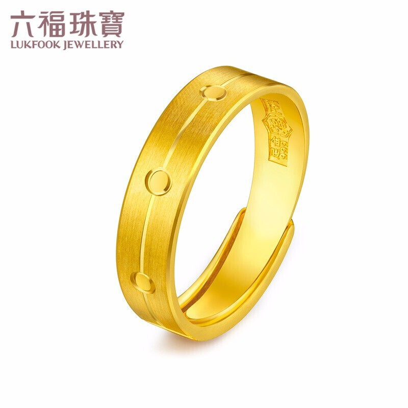 Fu เครื่องประดับ แหวนทองแท้แหวนคู่แหวนผู้ชายแหวนสด การกำหนดราคา F63TBGR0011 ประมาณ7.26