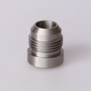 AN 16 AN16 16AN Male Aluminum Weld Plug Fitting Round Base