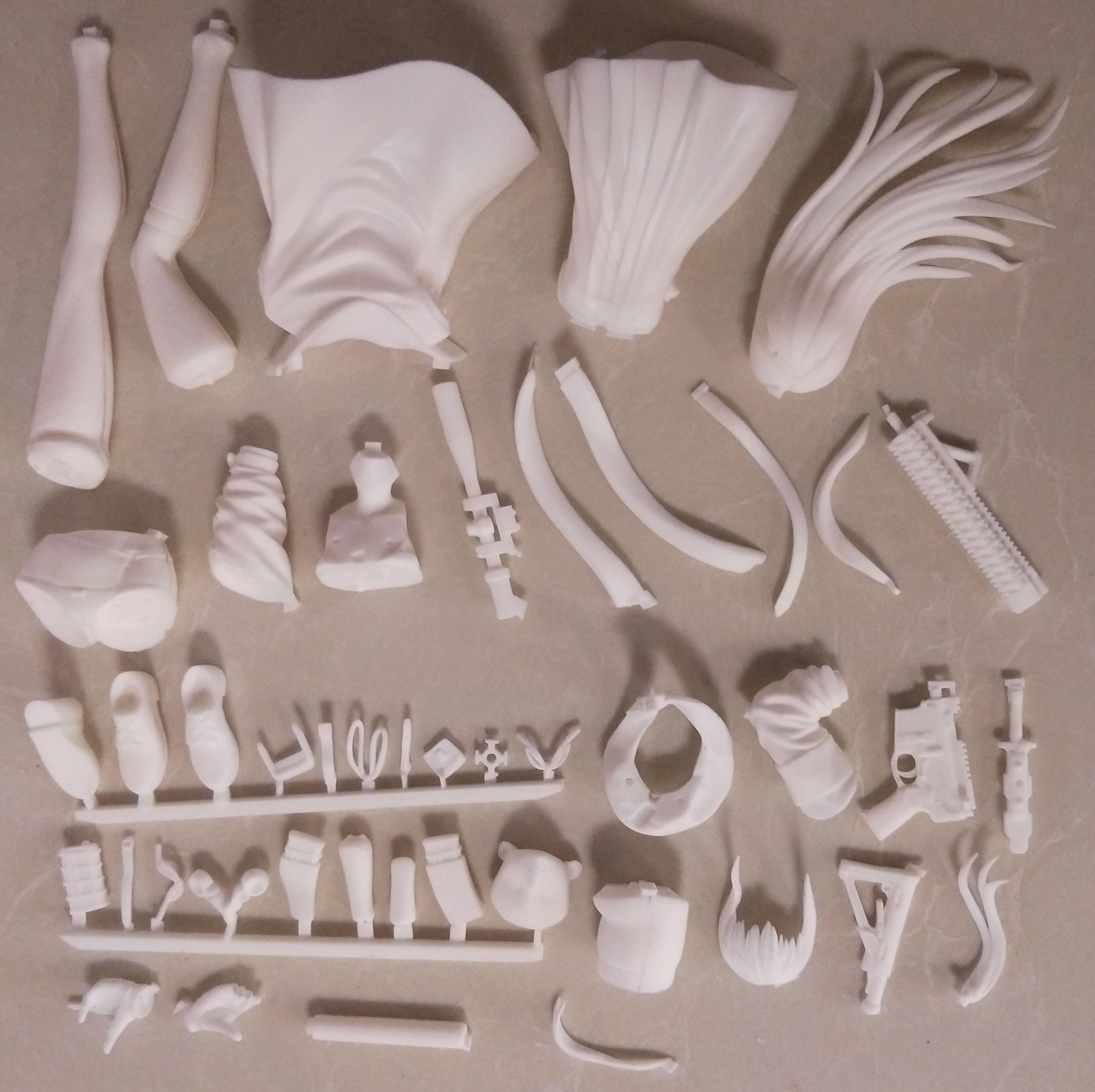 Resin Figure Kit Girl front lineST AR-15 Garage Kit Unpainted Garage Resin Model Kit