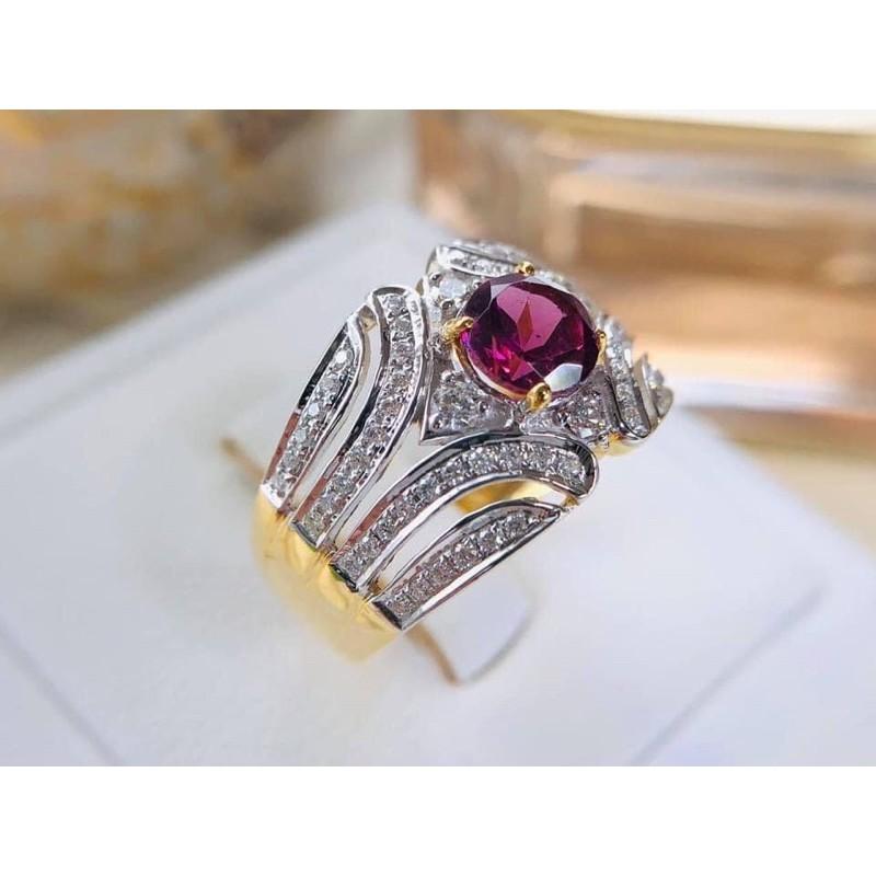 แหวนพลอยแท้ประดับเพชรแท้ทองคำแท้ราคาโรงงาน