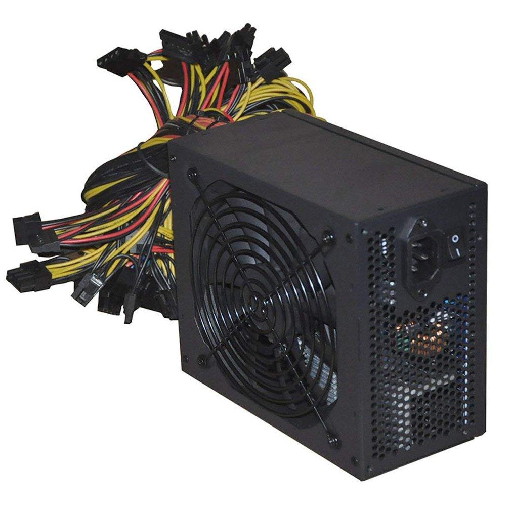 1800W PC Power Supply 1800W ATX PSU for RX470 RX580 RX570 RX560 Pico PSU Asic Bitcoin Miner ATX Mining Machine Support 6
