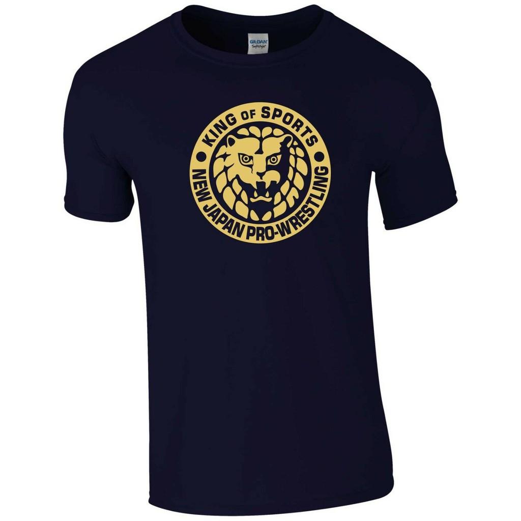 Japan Pro Wrestling Men T Shirt Bullet Club MMA Boxing Gym NJPW Gold