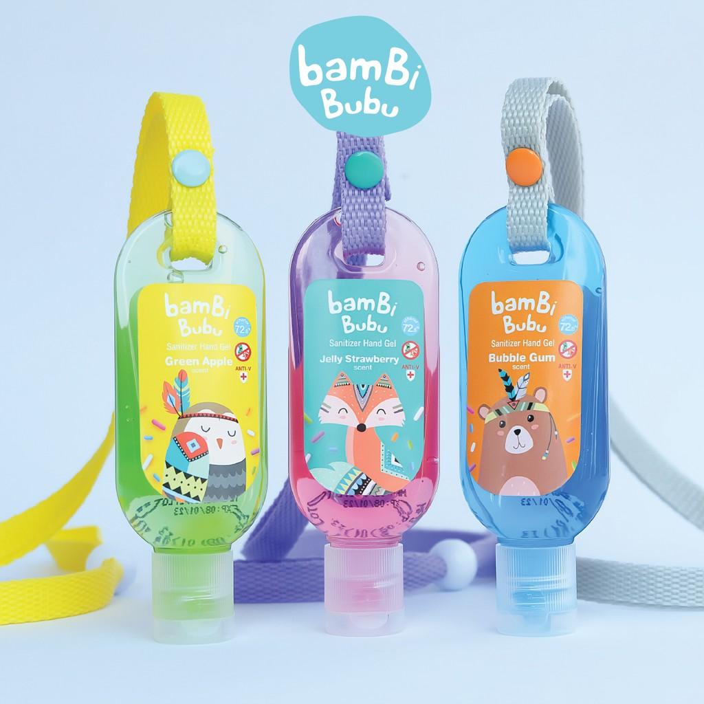 Bambi Bubu แบบคล้องคอ เจลล้างมือสำหรับเด็ก เจลแอลกอฮอล์ล้างมือ เจลล้างมือ ขนาด 30ml