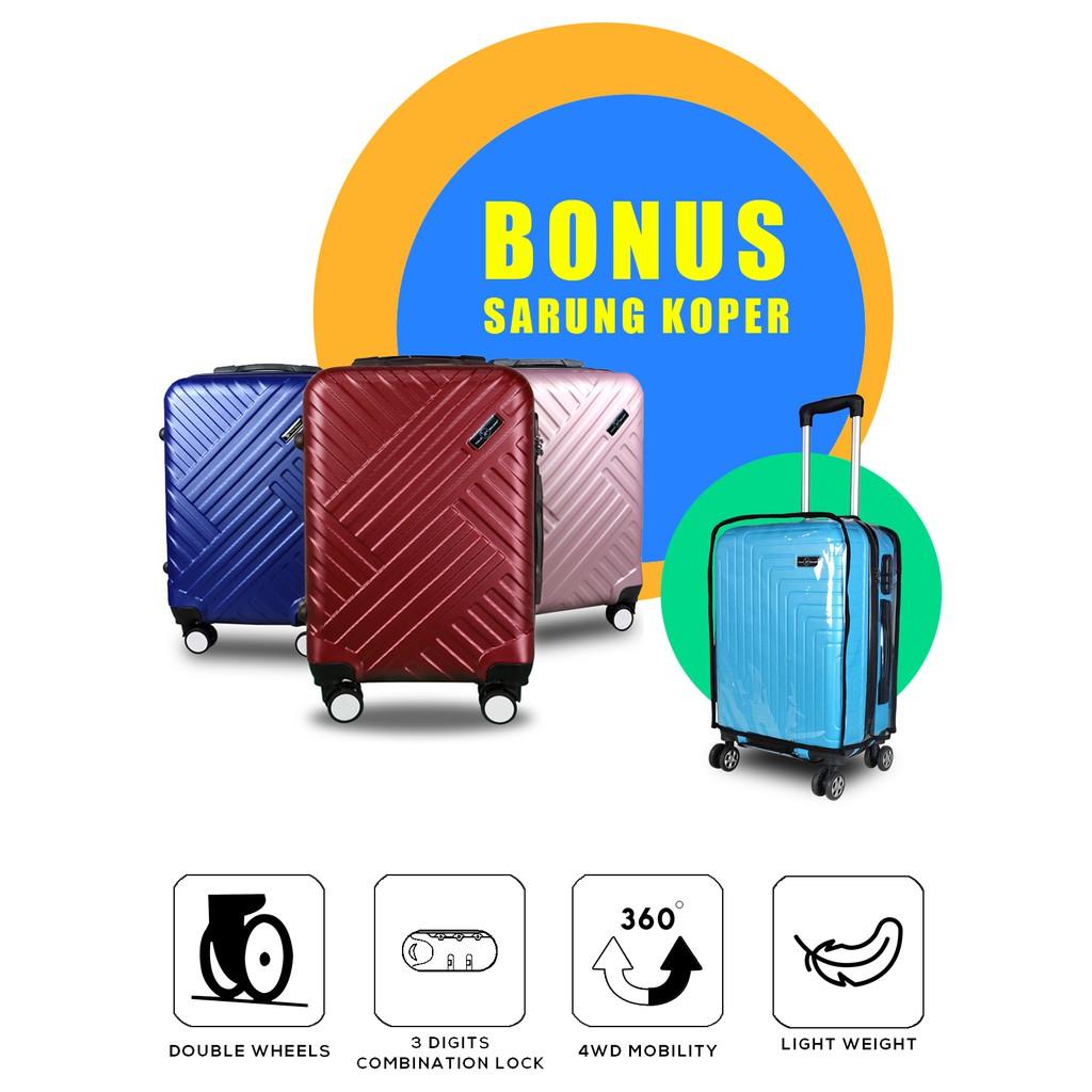 กระเป๋าเดินทาง Abs ขนาด 24 นิ้ว + ซองกระเป๋าเดินทาง