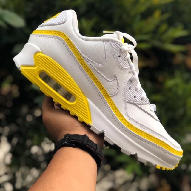 Nike Airmax 90 รองเท้าผ้าใบลําลองสีขาวสีเหลือง Bnwb