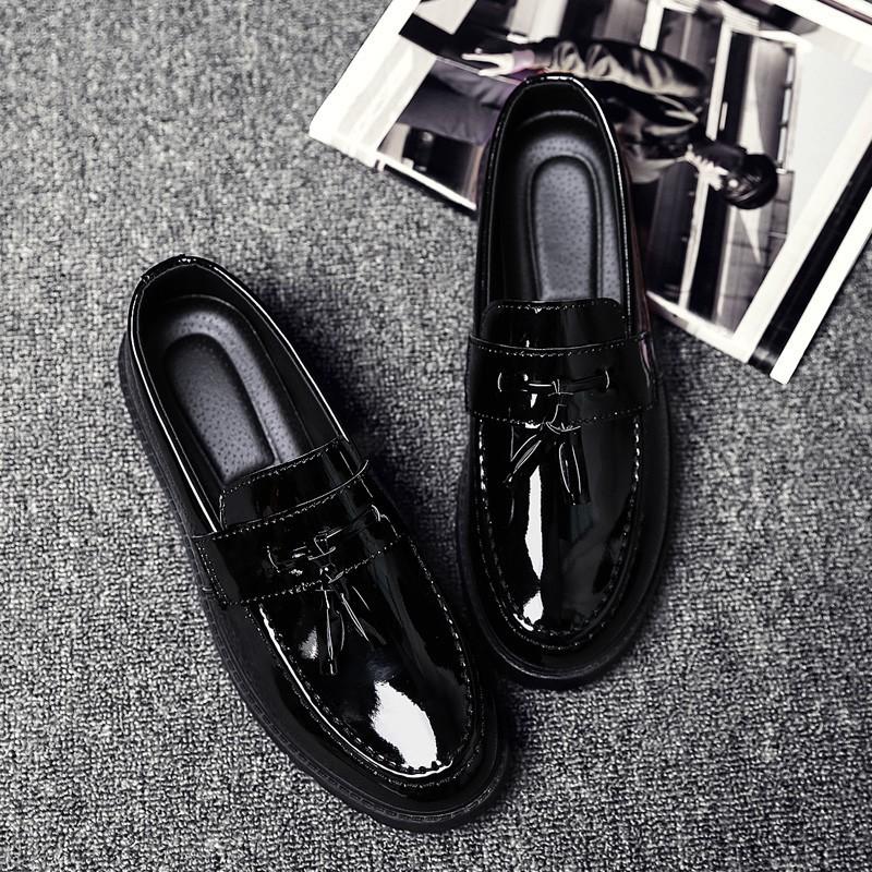 รองเท้าหนังผู้ชาย รองเท้าคัชชูผู้ชาย รองเท้าโลฟเฟอร์หนัง สีดำ สำหรับผู้ชาย