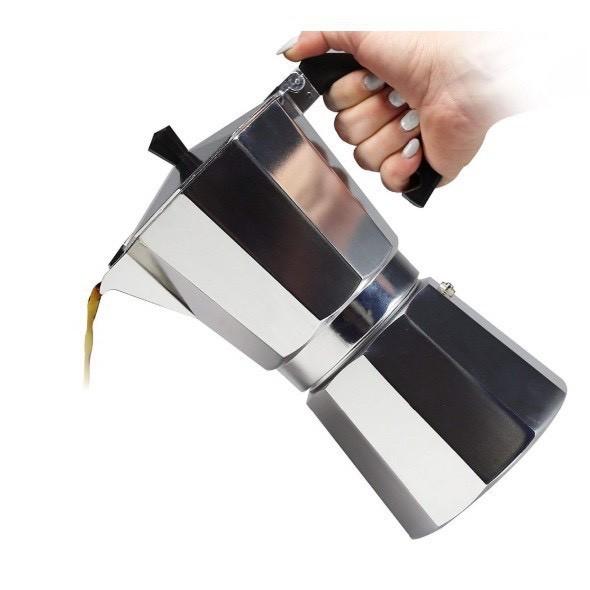 หม้อต้มกาแฟ หม้อต้มกาแฟสด Moka pot หม้อต้มกาแฟ เครื่องต้มกาแฟสด ทำกาแฟที่บ้าน