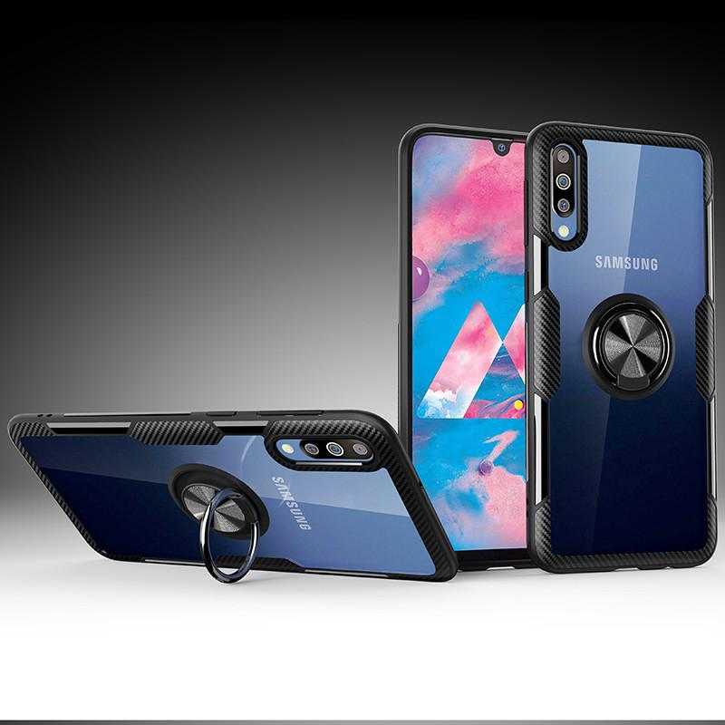 Review Samsung Galaxy A70 A50 A50S A30S A30 A20 A10 M30 M20 A71 A51 2020 A81 A91 S10 Note 10 Lite Case Armor Transparent Magnetic Ring Stand Hard Cover