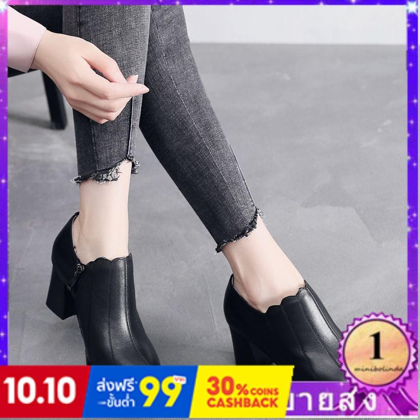 ⭐👠รองเท้าส้นสูง หัวแหลม ส้นเข็ม ใส่สบาย New Fshion รองเท้าคัชชูหัวแหลม  รองเท้าแฟชั่นใหม่ต่อต้านฤดูกาลกวาดล้างรองเท้าผู้