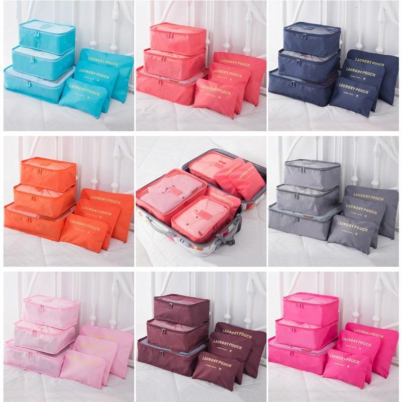 กระเป๋าจััดเก็บเสื้อผ้า 6 ชิ้น สำหรับเดินทาง longchamp travel anello mini กระเป๋า kumamon สายรัด tsa กระเป๋า anello แท้