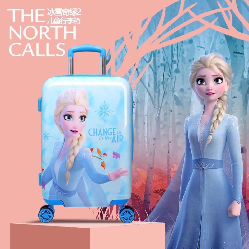 ❣☺กระเป๋าเดินทางเด็ก  กระเป๋ารถเข็นเดินทางกระเป๋าเดินทางเด็ก Disney Frozen 2 กระเป๋าเดินทาง Princess Aisha กระเป๋าเดินทา