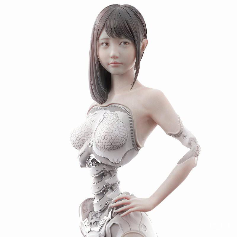 Garage Kit Unainted Garage Resin Model Kit 1/6 Original Android 001 Resin Figure Kit#¥%¥# NFHi