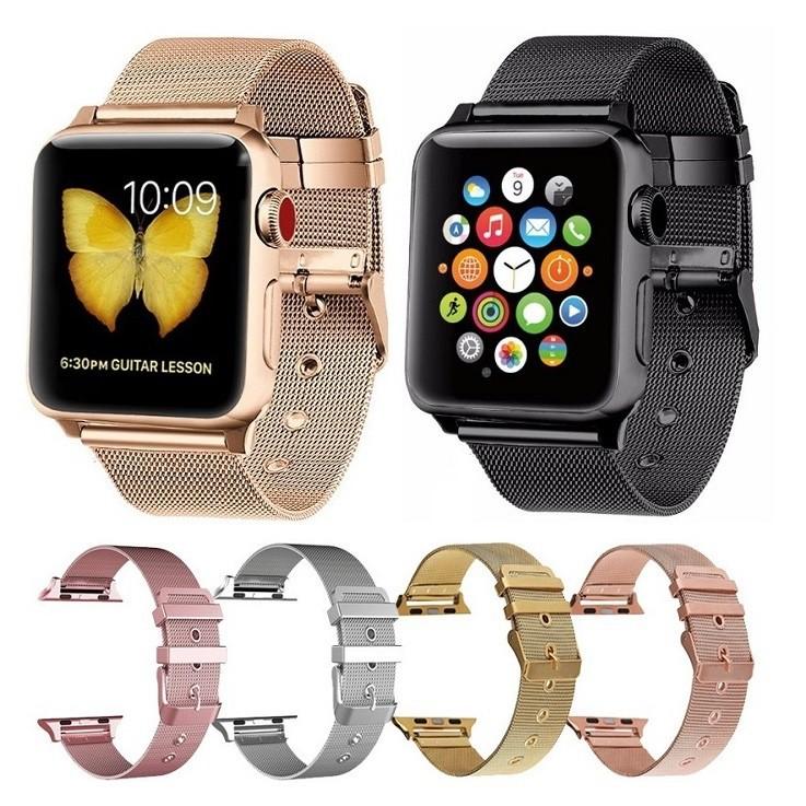 นาฬิกาข้อมือ Apple Watch สาย LAN 38 มม. 42 มม.40 มม 44มม series 6 5 4 3 2, Apple Watch SE สาย applewatch milanese Strap