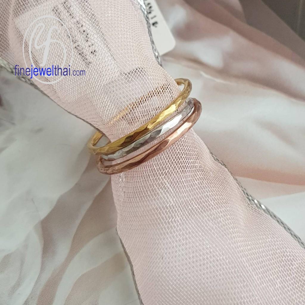 Finejewelthai แหวนทองคำขาว-แหวนเงิน-แหวนพิ้งค์โกลด์-แหวนแต่งงาน/ White Gold-Silver-Pink Gold-Ring-R122900(ราคาต่อ 1 วง)