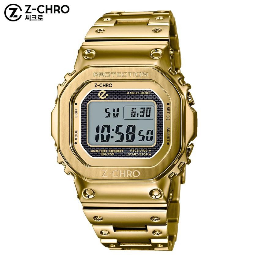 [เก็บเงินปลายทางได้] Z-CHRO นาฬิกาข้อมือ สายสแตนเลส หน้า GMW-B5000 ฉลอง CASIO 35 ปี ตั้งปลุก จับเวลาได้ รุ่น 718101