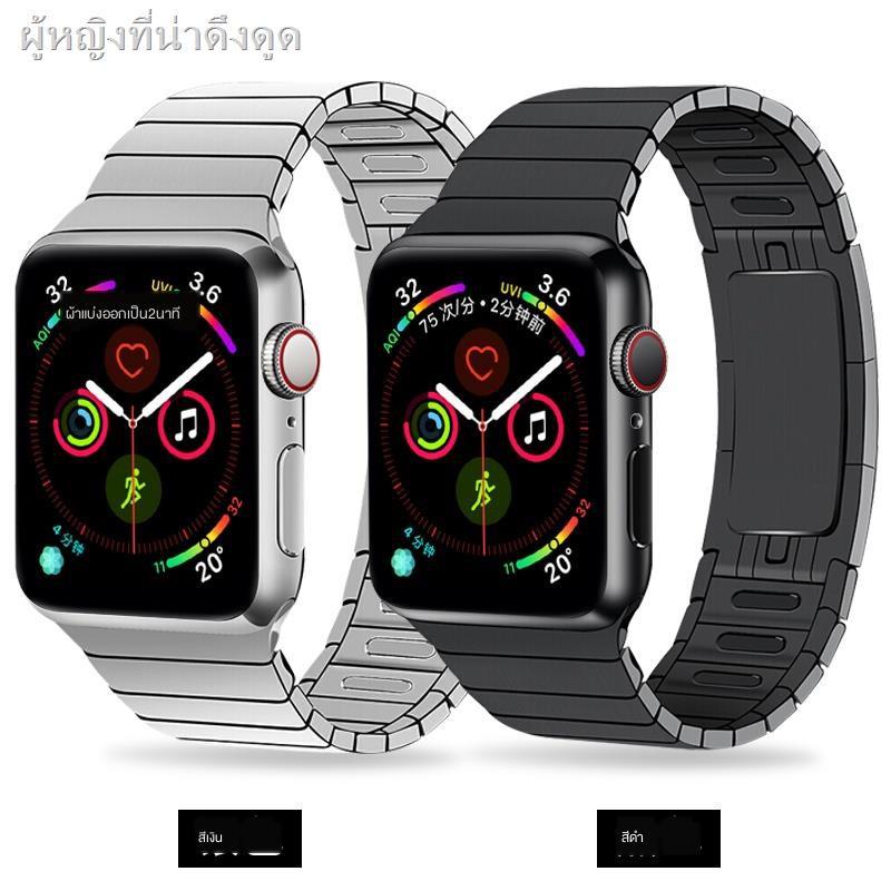 เคสยางซิลิโคนการ์ตูน Air podsเคส for Apple AirPods Applicable iwatch6 strap Apple watch se chain metal stainless steel applewatch5 1/2/3/4 generation 44/42mm male and female new personality trend five series s5