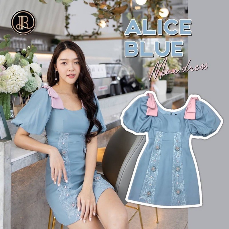 💙only XS 💙 Alice BLue Mini Dress BLT BRAND