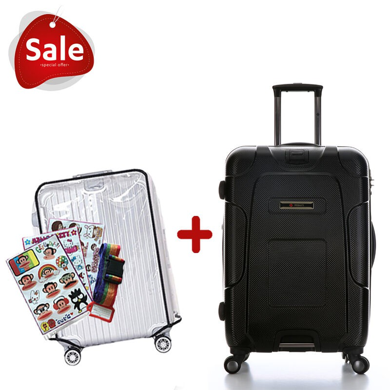 SAMSONITE กระเป๋าเดินทาง 4 ล้อ แบบผ้า รุ่น CROSSLITE ขนาด 24 นิ้ว (สีดำ/สีน้ำเงิน) SPINNER 66/24กระเป๋าเดินทาง