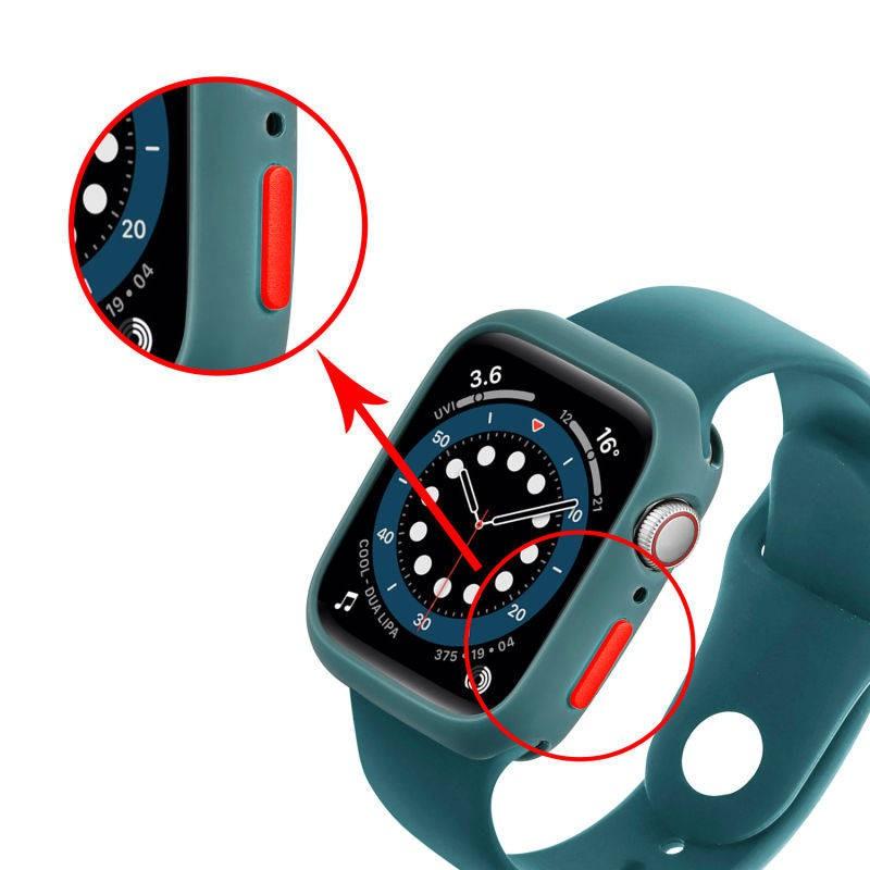 💥 สาย applewatch 🔥 สายนาฬิกา Apple Watch เคส Applewatch iwatch6 / 5 อุปกรณ์เสริมนาฬิกาซิลิโคนสายคล้องหนึ่ง