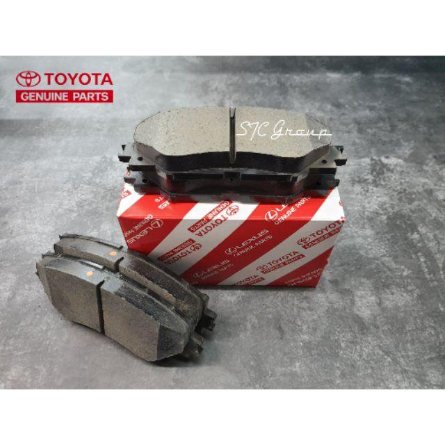 Toyota Camry / WISH / Vios / Yaris / Altis / Limo ผ้าเบรค *** หลัง *** ( Toyota แท้ศูนย์ 100% )