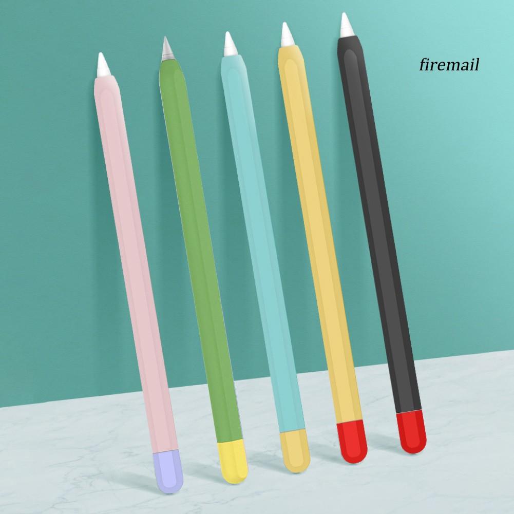 ปากกาทัชสกรีน Stylus Silicone Capacitive Stylus Pen Case Protective Sleeve Cap for Apple Pencil 1/2