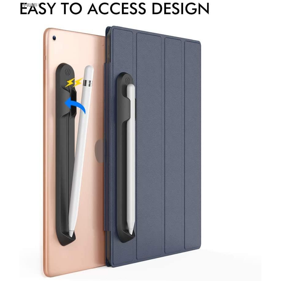 ปลอกใส่ดินสอของ Apple, Apple Pencil Holder Sleeve for 1st/2nd Generation, Strong Adhesive Silicone Sticker [Magnetic At