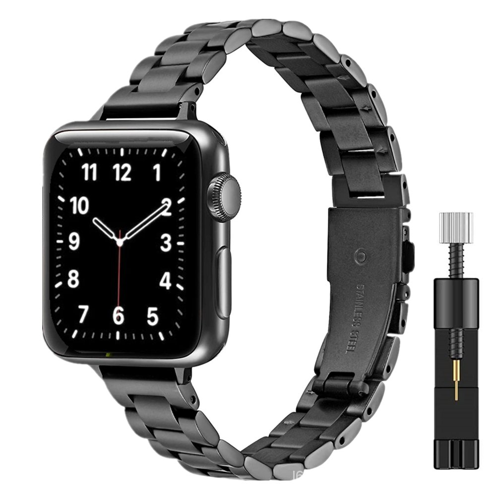Women Metal Bracelet for Apple Watch SE 40mm 44mm Band Series 6/5/4/3/2/1 Slim Stainless Steel Wrist Strap for iWatch SE