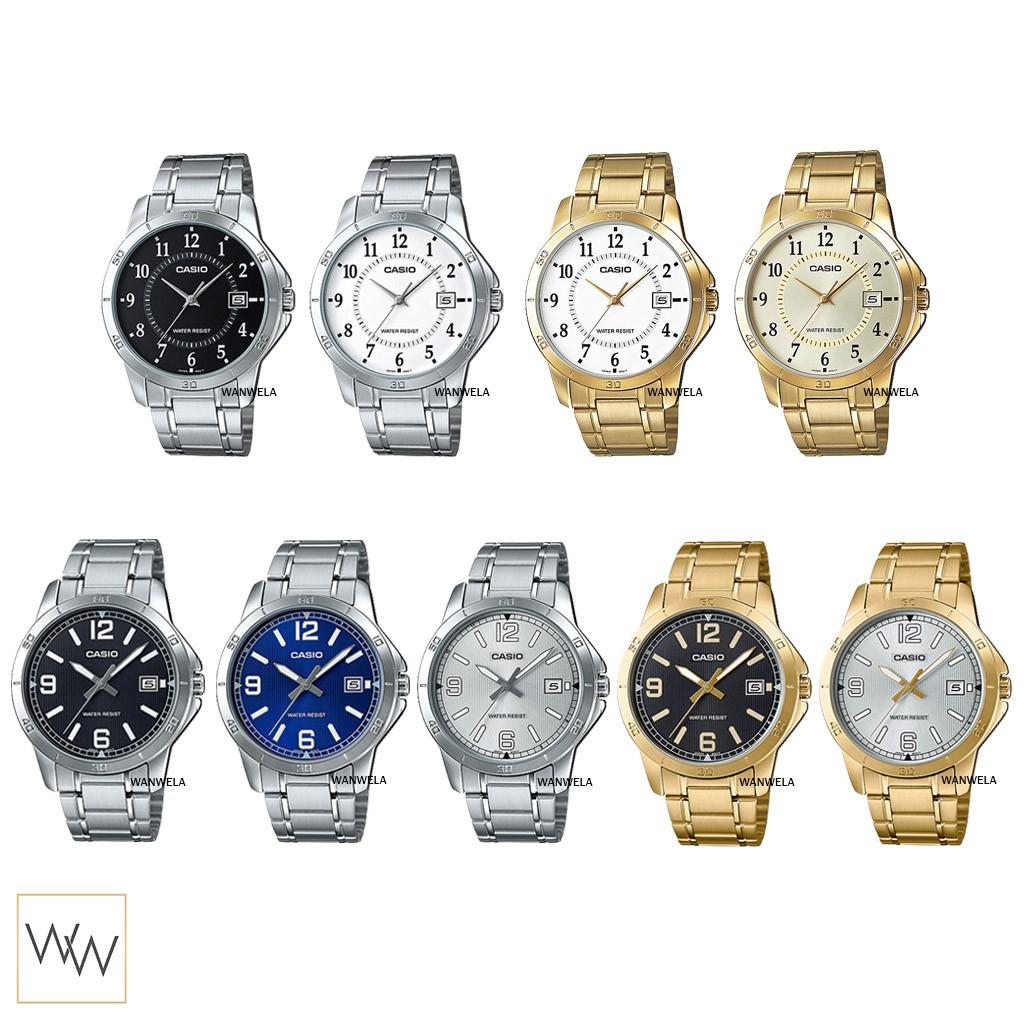 ของแท้ นาฬิกาข้อมือ Casio ผู้ชาย รุ่น MTP-V004 (สายสแตนเลส)