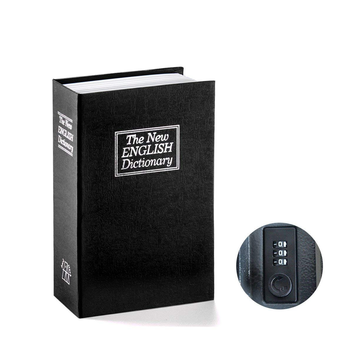 Book Safe with Combination Lock Dictionary Diversion Book Safe Portable Safe Box, Great for storing Money Jewelry Passport small