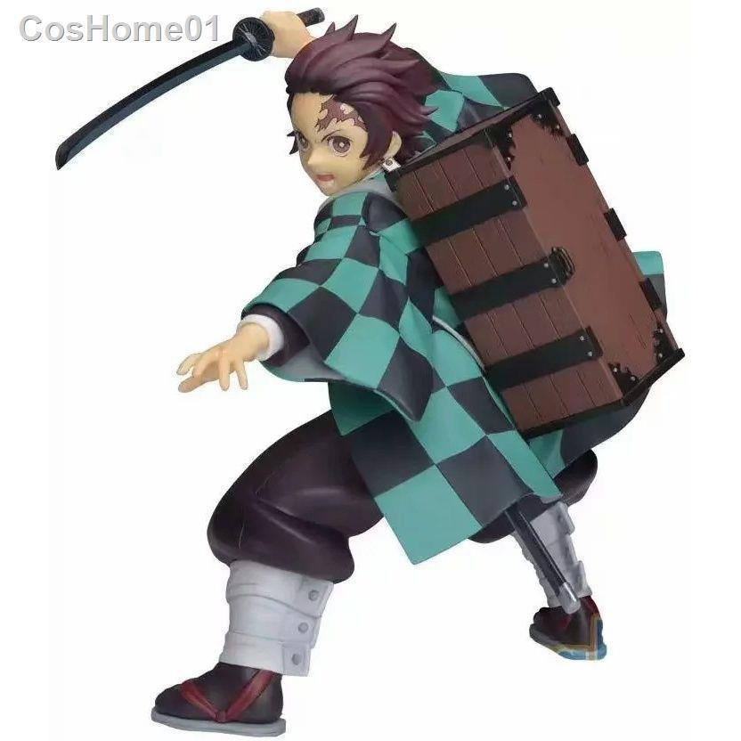 เตรียมจัดส่งMotherland Edition Demon Slayer Blade Kilomon Tanjiro Backpack SPM Scenery Figure Boxed Model