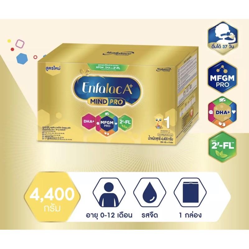 [ขายยกลัง-2กล่อง] ใหม่ นมผง เอนฟาแล็ค เอพลัส มายด์โปร ดีเอชเอ พลัส สูตร 1 4400 ก ขายยกลัง Enfalac