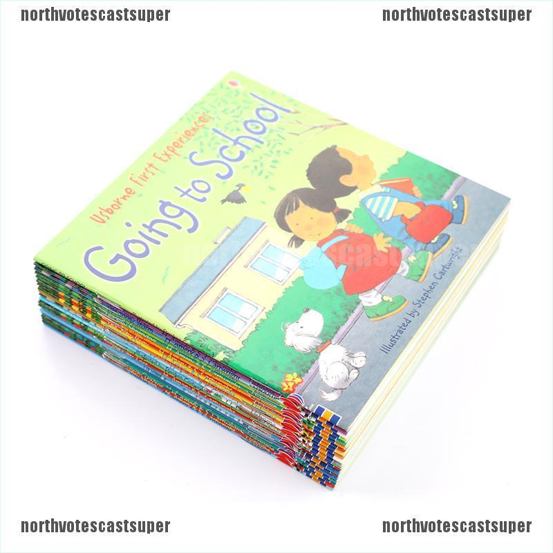 Northvotescastsuper Random 4 books English Usborne books for Children kids Farmyard Picture Books NVCS