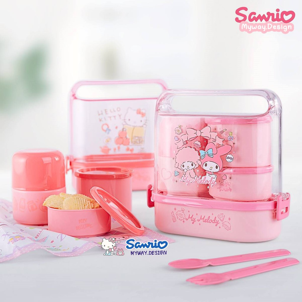 Sanrio Hello Kitty Pink /& Light Blue  Thermo Thermal Insulated Lunch Bento Bag