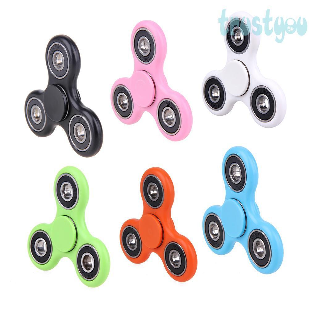 Tri-Fidget-Hand-Spinner-Focus-Desk-Toy-EDC-ADHD-Autism-KIDS-ADULT-LED  Tri-Fidg