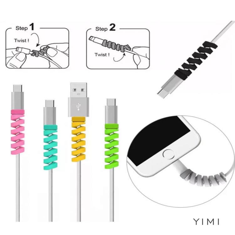 ตัวป้องกันสาย USB Saver หูฟังสายป้องกันสายไฟสายชาร์จสายป้องกันหูฟัง Apple Lightning-yimi