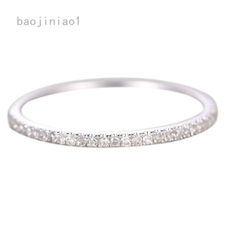 Single row diamond ring silver ring couple ring