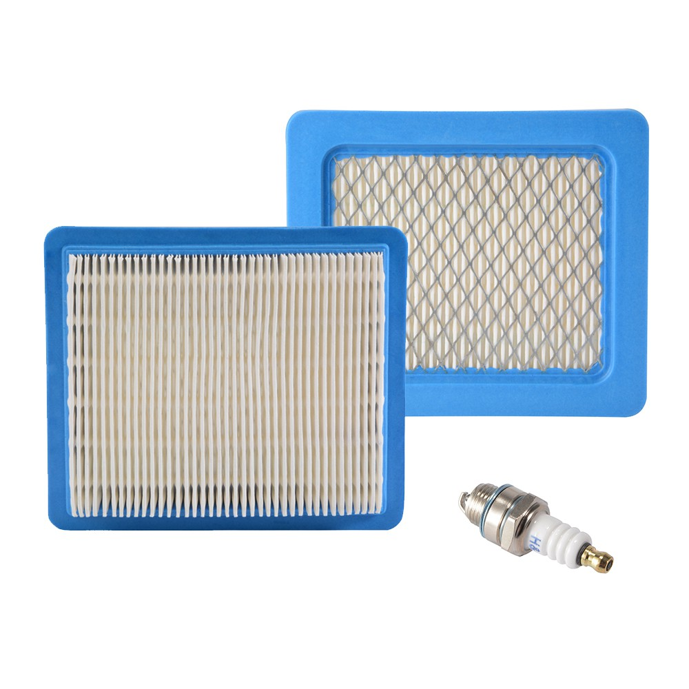 Spark Plug Replace for Briggs and Stratton 491588 491588S MA1228 2x Air Filter