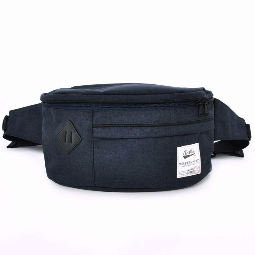 กระเป๋าคาดเอว Anello Au-a0401 สีน้ําเงินเข้ม