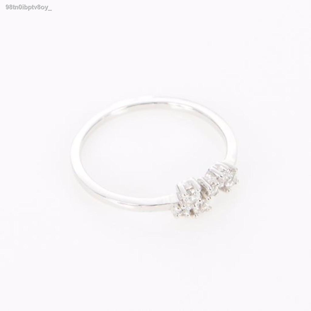 🔥มีของพร้อมส่ง🔥ลดราคา🔥❁✠bynumi Cluster Ring - Most Favorite แหวนเงินแท้ 925 ชุบทองคำขาวและเพชรสวิส