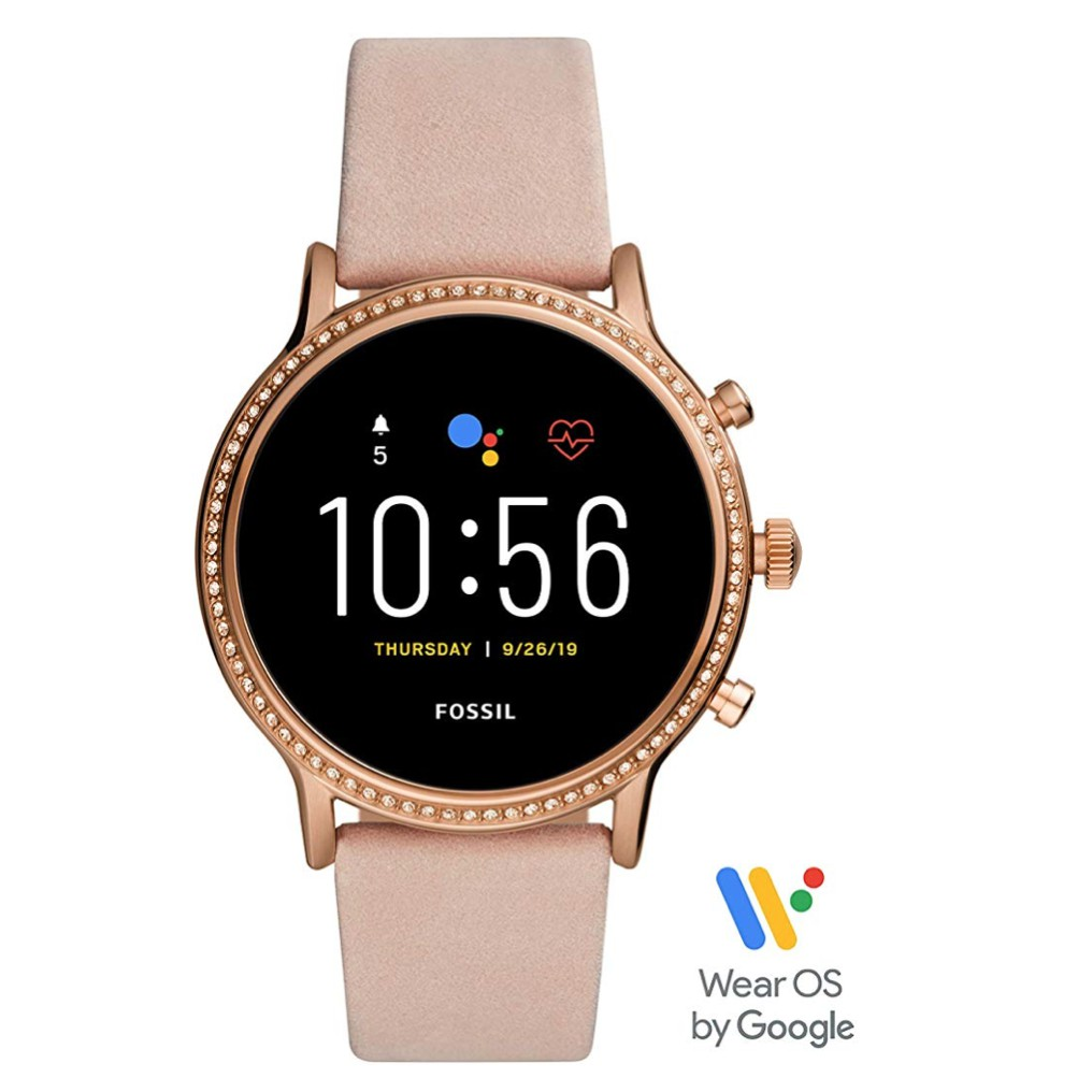 Fossil Gen 5 Julianna Stainless Steel Touchscreen Smartwatch with Speaker, Heart Rate, GPS, NFC