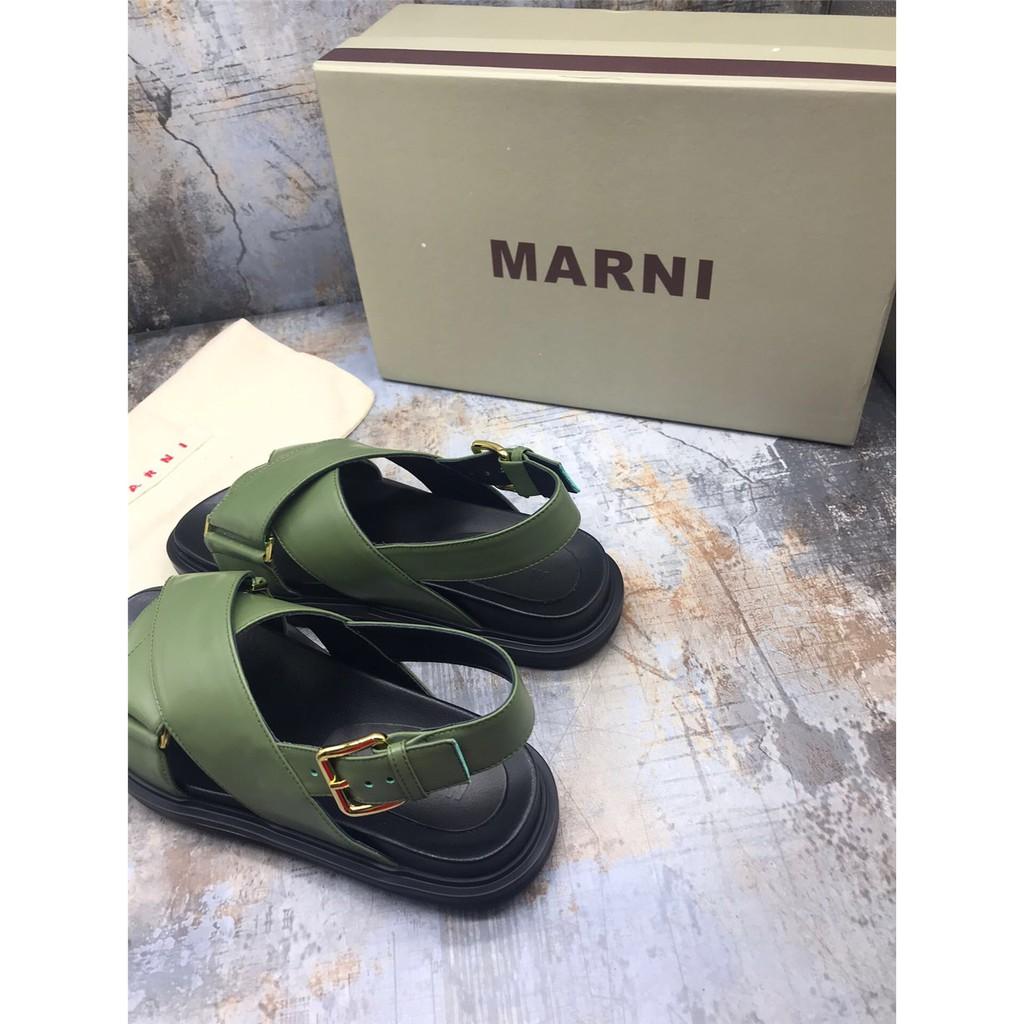 สินค้าใหม่ Marni ข้ามความคมชัดกีฬารองเท้าลำลองแพลตฟอร์ม 8 CZNB
