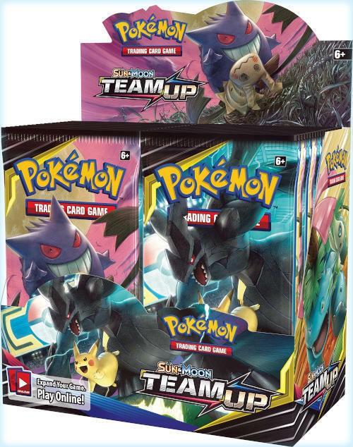 Pokemon Tcg : Sun & Moon 9 Team Up Booster กล่องซีลสําหรับใช้ในการปิดผนึก 36 แพ็ค