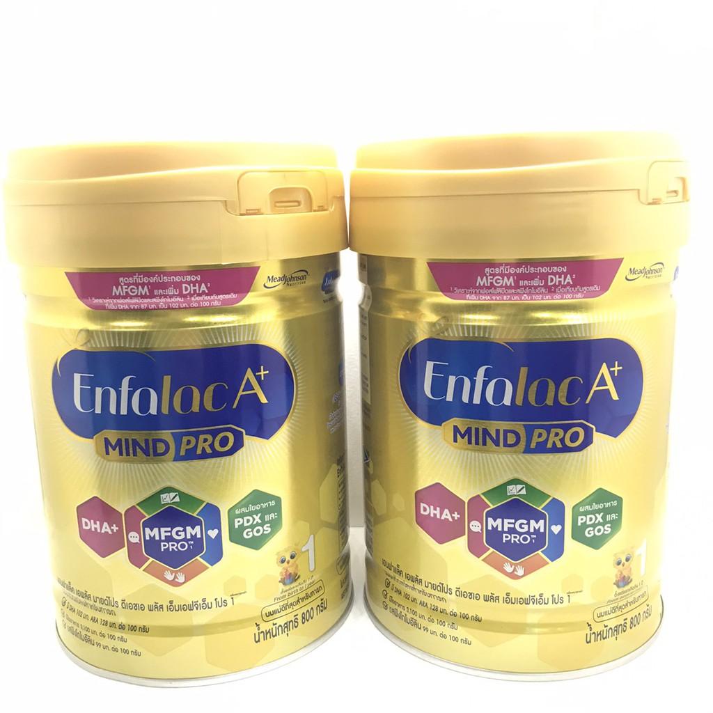 นมผงEnfalac A+ เอนฟาแลค เอพลัส สูตร1 โฉมใหม่ (2กระป๋อง) ขนาด 800กรัม 2 กระป๋องEXP 02/012/2022