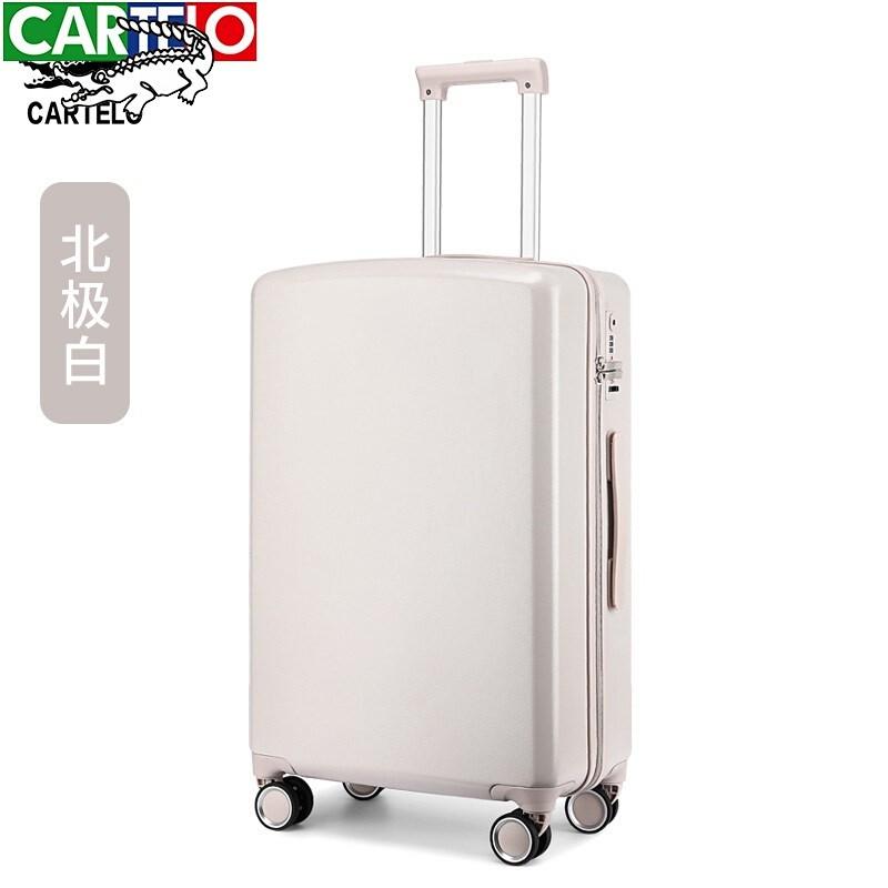 2021บัตรจักรพรรดิเพลงจระเข้(CARTELO)กระเป๋าเดินทางผู้หญิงใบเล็ก20นิ้วทนทานหนาตาข่ายสีแดงรถเข็นใหม่หญิง26กระเป๋าเดินทางรห