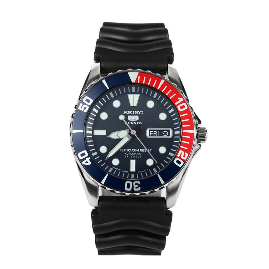นาฬิกา ไซโก้ ผู้ชาย Seiko 5 รุ่น SNZF15J2 (Made in Japan) Sports Automatic Men's Watch สายยาง เเท้ 100% CafeNalika