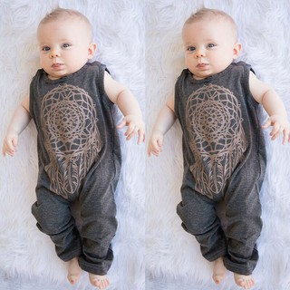 Toddler Kids Baby Boys Girls Print Romper Jumpsuit Playsuit Outfits Clothes