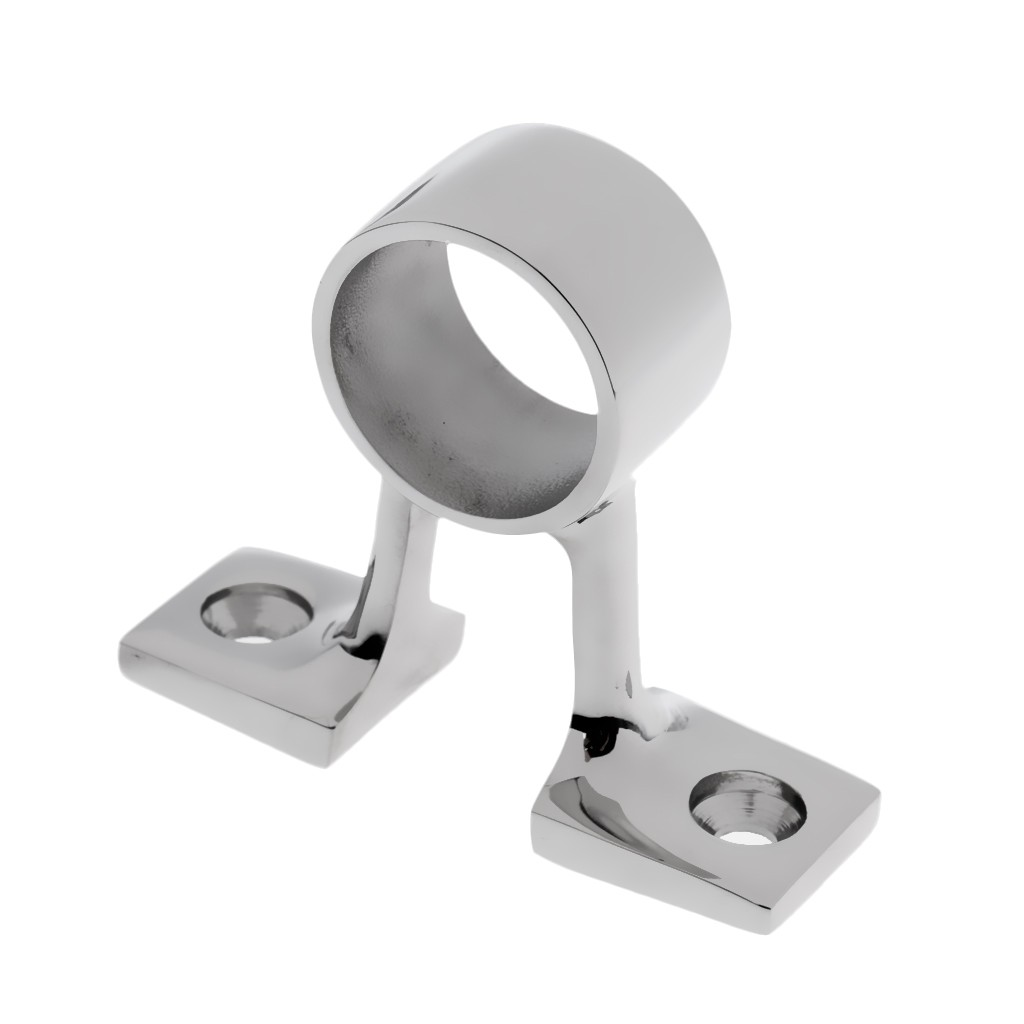 """Stainless Steel Boat Hand Rail Fitting 1/"""" After Stanchion Marine Hardware"""