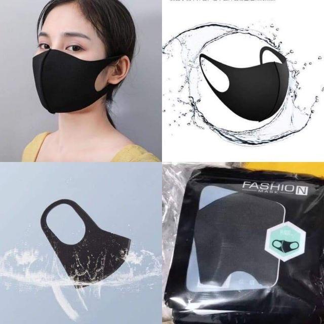 ⭐พร้อมส่ง⭐ 3D Black Mask ผ้าปิดจมูกแฟชั่น สีดำ ทรง 3D สุดฮิต กันฝุ่น PM2.5 หน้ากากป้องกันเชื้อโรคได้