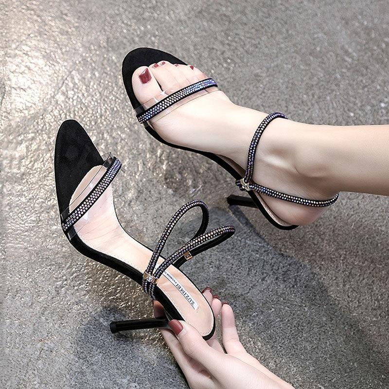 รองเท้าส้นสูง หัวแหลม ส้นเข็ม ใส่สบาย New Fshion รองเท้าคัชชูหัวแหลม  รองเท้าแฟชั่นรองเท้าแตะและรองเท้าแตะผู้หญิงสวมใส่ด